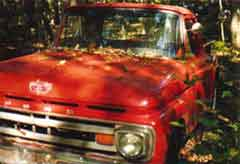 1963 Red Ford Truck